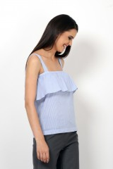 Stripe and Ruffle top (75% off)